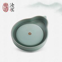 东道汝窑茶具配件福承壶垫陶瓷功夫茶具茶道配件汝瓷壶承壶垫开片可养