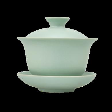 AlfunBel艾芳貝兒汝窯天青蓋碗三件套三才碗泡茶碗-C款C-35-20(160ml,放大約6-8克茶葉