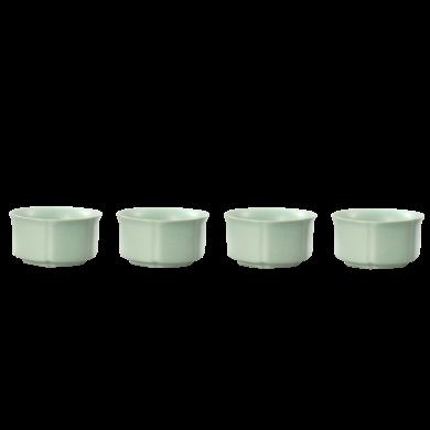 AlfunBel艾芳贝儿功夫茶杯 天青汝窑个人陶瓷功夫茶具小茶杯品茗杯泡茶盏红茶单杯-古典杯(4只装)C-41-5-4