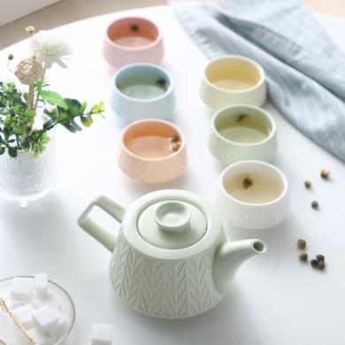 愛屋格林耐高溫花茶壺套裝套裝家用茶具耐熱泡茶壺