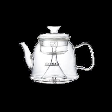 AlfunBel艾芳貝兒加厚全玻璃煮茶器蒸茶壺 茶具高硼硅耐熱玻璃黑茶蒸茶壺蒸汽壺-B款1200ML C-85-23-4(適合電陶爐,電磁爐不可用)