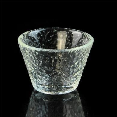 AlfunBel艾芳貝兒茶具日式錘紋品茗杯小茶杯一口杯功夫茶道玻璃品杯-大雪杯(單只裝)C-85-26-17