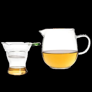 AlfunBel艾芳贝儿茶具-茶道工具高硼硅耐热玻璃贵妃公道杯-大?#29275;?50ML)+玻璃茶滤C-85-98-2