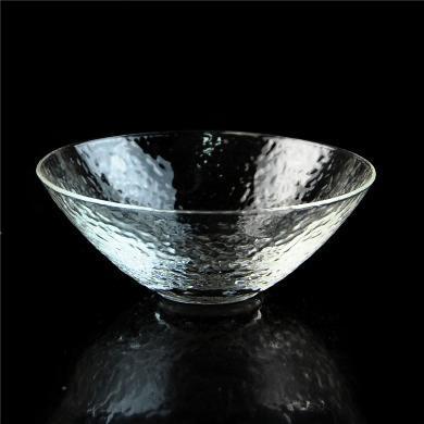 AlfunBel艾芳貝兒茶具日式錘紋品茗杯小茶杯一口杯功夫茶道玻璃品杯-大號斗笠杯(單只裝)C-85-26-19