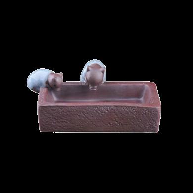 AlfunBel艾芳貝兒陶瓷精品茶寵擺件創意可愛小豬喝水茶玩茶具茶道配件茶藝多肉花盆-哥窯C-78-11-1