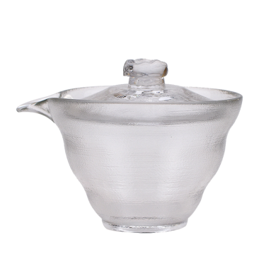 AlfunBel艾芳贝儿茶具-茶道工具耐热玻璃加厚盖碗-冰纹(150ML)C-85-1-2