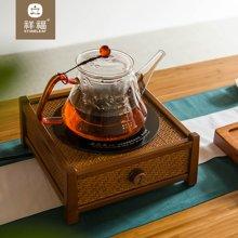 祥福 电陶炉家用茶炉泡茶煮茶壶铁壶电炉功夫茶具 博山竹炉