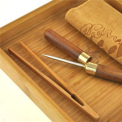 AlfunBel艾芳貝兒一套茶道系列普洱茶工具(賞茶盤,茶針,茶巾,茶夾)C-88-9