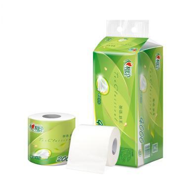心相印茶語經典200克10粒裝四層茶葉壓花卷筒衛生紙 NC2(200克*10卷)