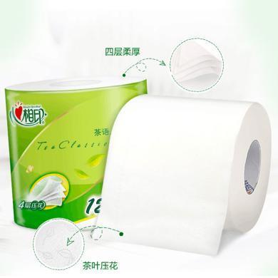 心相印茶語絲享4層卷筒衛生紙HN1(12卷*120g)