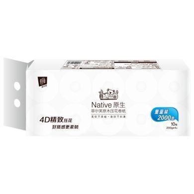 $¥菲爾芙原木壓花卷紙(200g*10卷(108mm*115mm*4層))