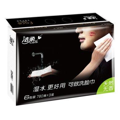 潔柔Face天然無香130抽紙面巾(6包裝)(130抽*6包*3層)