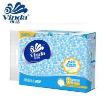 维达细韧抽取式面巾纸(140抽*8包)