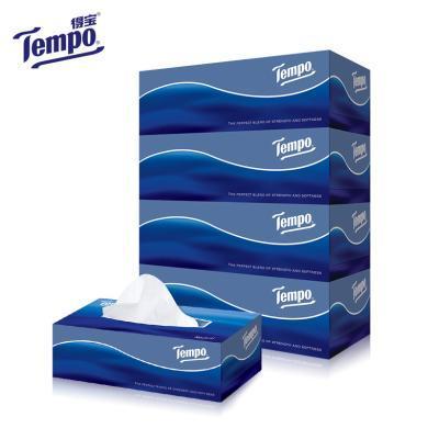 得寶盒裝面巾紙(天然無味)(4盒*90抽)