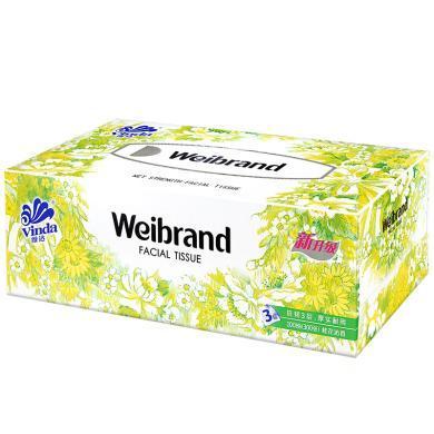 V2002维达威牌高级盒巾纸(100抽*5盒/提)