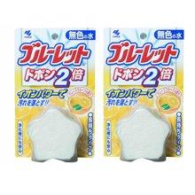 【2只】【日本】小林制药  洁厕灵洁厕宝自动马桶洁厕块清洁剂杀菌(西柚)