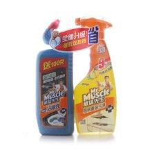 威猛先生厨房重油污净(柠檬)+洁厕液强效(500g+500g)