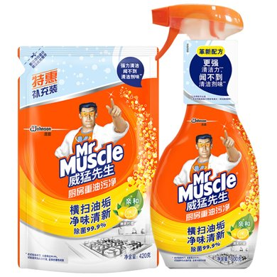 威猛先生廚房重油污凈(檸檬)雙包袋(500g+420g)