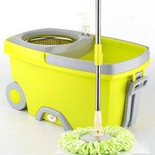 爱自由不锈钢旋转双驱动自动滚轮式家用拖把桶地拖布墩布免手洗干湿两用
