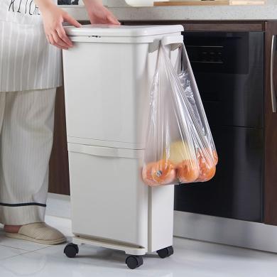 阡佰家  新款雙層分類垃圾桶  廚房垃圾分類 垃圾桶  BY-6509