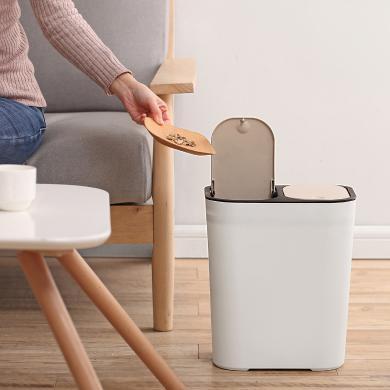 摩登主婦分類垃圾桶可回收干濕分離家用帶蓋上海家庭廚房客廳兩用