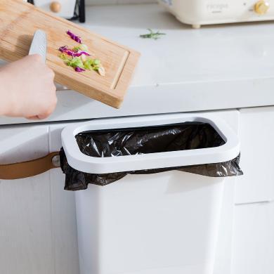 摩登主婦北歐家用廚房懸掛式壁掛垃圾桶干濕分類帶抽屜衛生間臺面