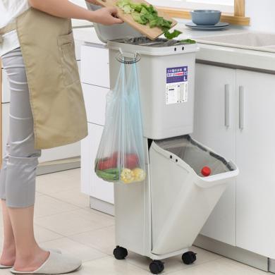 百露廚房垃圾分類垃圾桶日式高款夾縫立柜箱廚房大號日本垃圾桶