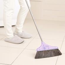 美丽雅亲巧猪毛纤维混合扫把家用混合毛笤帚不锈钢扫把塑料扫把
