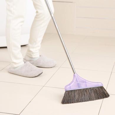 美麗雅親巧豬毛纖維混合掃把家用混合毛笤帚不銹鋼掃把塑料掃把