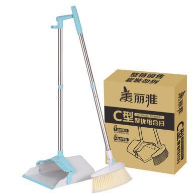 美麗雅掃把套裝家用掃地神器掃帚撮簸箕組合懶人不粘頭發塑料苕帚