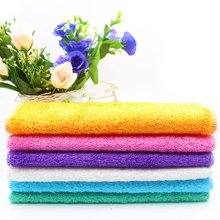 百妙 竹纖維洗碗布吸水不掉毛粘油加厚抹布廚房清潔布不沾油洗碗巾