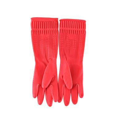 洗碗廚房塑膠家務清潔手套女家用加厚洗衣服防水耐用乳膠橡膠膠皮