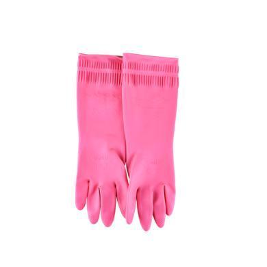 韓國進口橡膠家務手套廚房洗碗洗衣服防水乳膠手套加厚款1雙裝