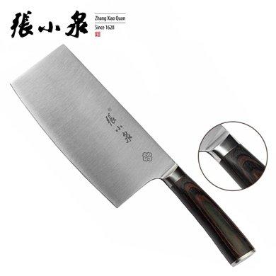 张小泉菜刀咖啡彩木柄切菜刀切片刀不锈钢厨房刀具锋利木柄菜刀D11102300