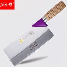 正士作金门菜刀锋利三层钢刀不锈钢厨师刀专业切片刀厨房切菜刀cs-318