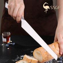 SSGP德國面包刀鋸齒刀長切吐司鋸齒不銹鋼切蛋糕刀烘焙切片刀家用  05541 面包刀