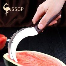 SSGP 加厚切西瓜片神器水果工具304不銹鋼取肉切塊器水果分割器大 01631 304西瓜切