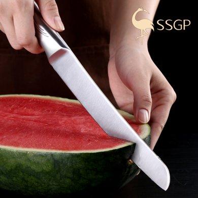 專業切水果刀具西瓜刀大號不銹鋼廚房家用德國瓜果刀切瓜刀加長款  07901 加長切瓜刀