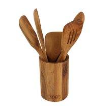 左家?#39029;?#26586;木餐具套装6件套RE7084