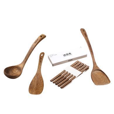 達樂豐雞翅木筷勺組合裝4件套