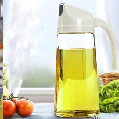日?#25509;?#22774;酱油壶玻璃油瓶安全材料家用防漏油醋瓶大小号厨房油壶