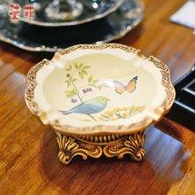 墨菲 別韵流萤 欧美复古烟灰缸创意个性时尚彩绘客厅办公室装饰摆件