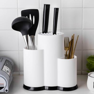 摩登主妇TPR材质刀架菜板厨房用品刀具架刀座置物架多功能收纳架