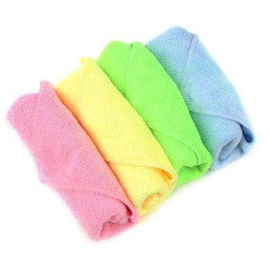 姣蘭 超細纖維百潔布 廚房家居竹纖維清潔布珊瑚絨抹布日式擦地布