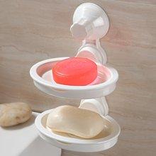 双庆吸盘双层肥皂架吸盘肥皂盒肥皂架肥皂盒沥水香皂架香皂盒SQ-1126