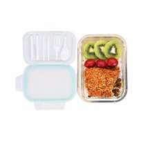 左家右厨高硼硅玻璃保鲜饭盒 带餐具便当盒