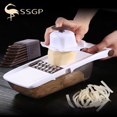 德国SSGP多功能切菜插?#21487;?#22120;家用土豆丝刨丝刮擦丝切丝器厨房擦菜擦子擦板
