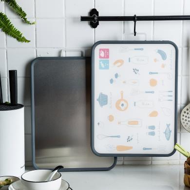 摩登主婦創意家用砧板大號菜板子廚房不銹鋼和面板切菜板搟面砧板