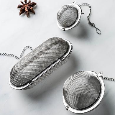 摩登主婦不銹鋼調料球廚房煲湯燉肉鹵料盒多功能香料過濾器茶濾