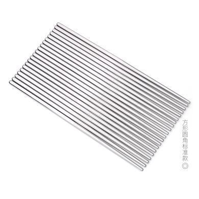 SSGP 德國304不銹鋼筷子家用防滑10雙套裝家庭裝防燙耐高溫不發霉 0722 304筷子